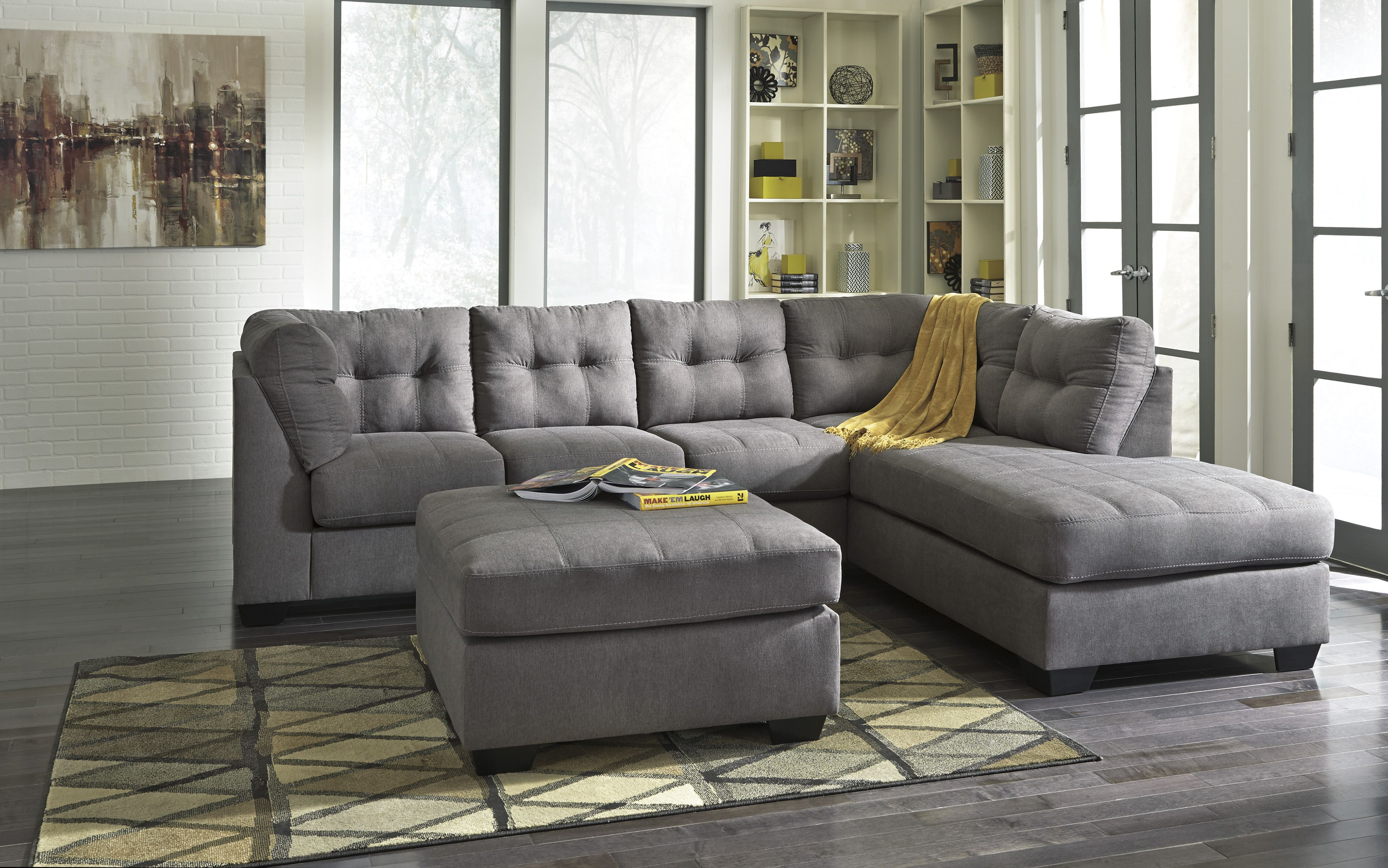 Signature Designs Living Room Two Piece Sectional Walker