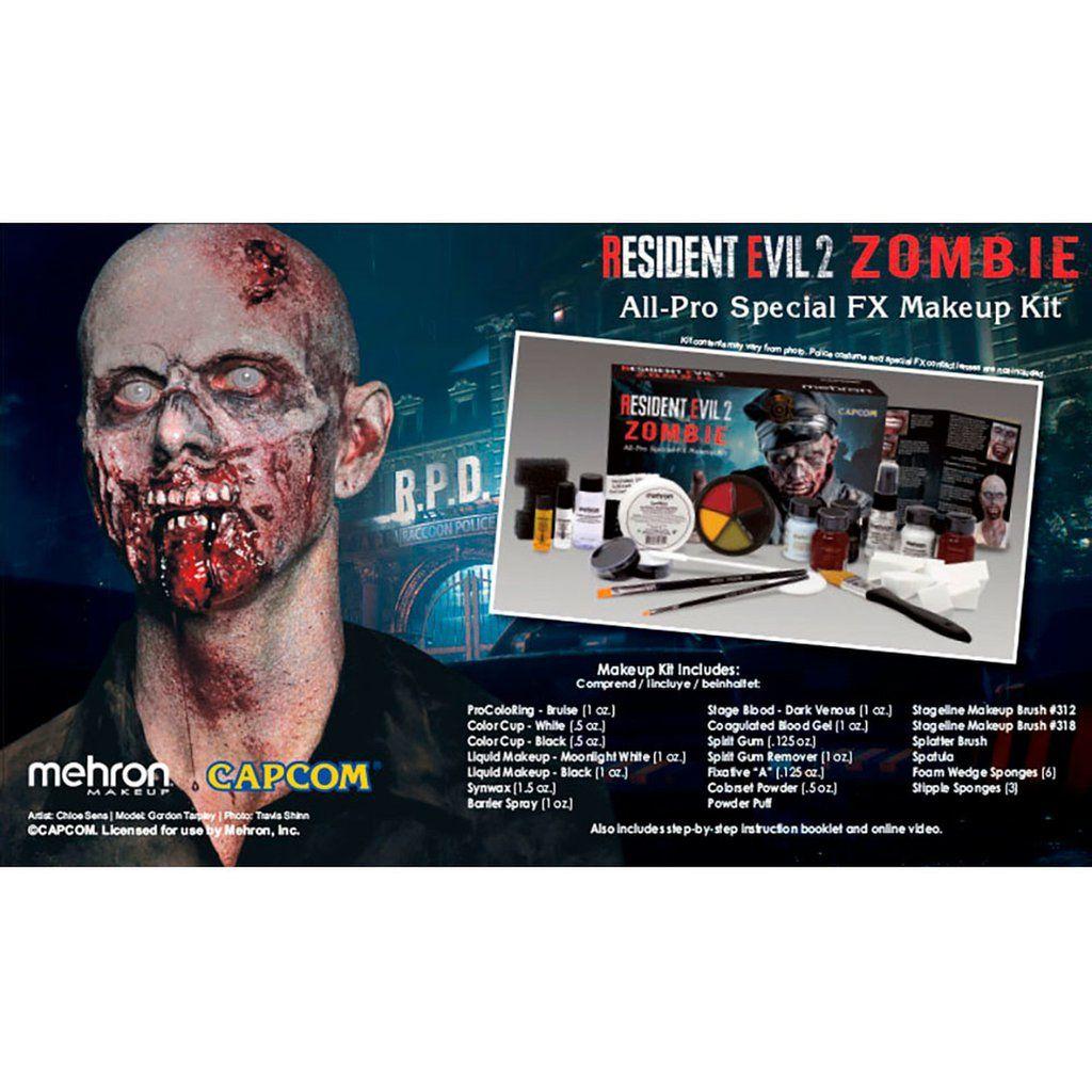 Mehron Special FX Make Up Kit Resident Evil 2 Zombie