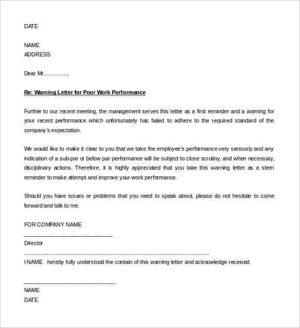 27 Hr Warning Letters Pdf Doc Apple Pages Google Docs