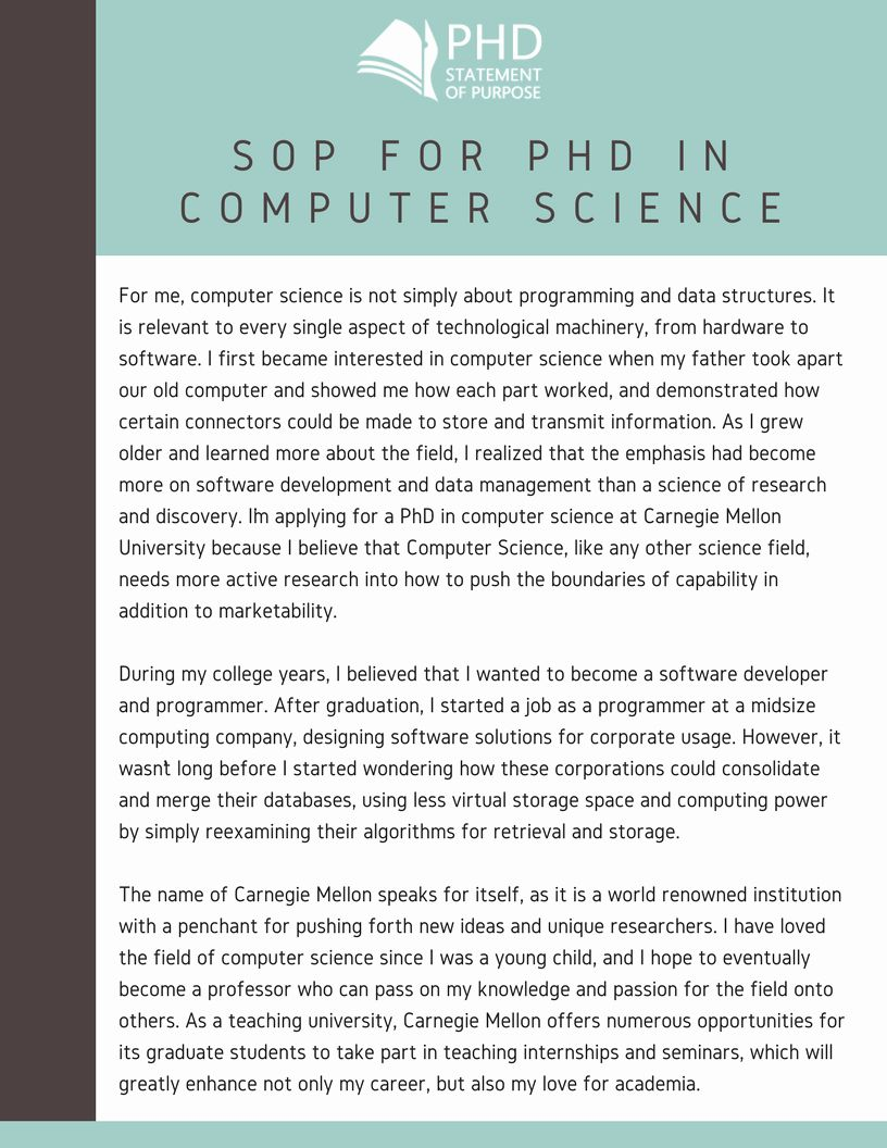 Statement Of Purpose Sample Computer Science Awesome Sop For Phd Admission Samples For 9 Spe Computer Science Ms In Computer Science Scholarship Essay Examples Statement of purpose sample computer science