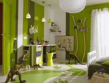 Superbe Couleurs Chambre Enfant Association Couleurs Vert Pistache Pour Peinture  Mur Et Sol Leroy Merlin