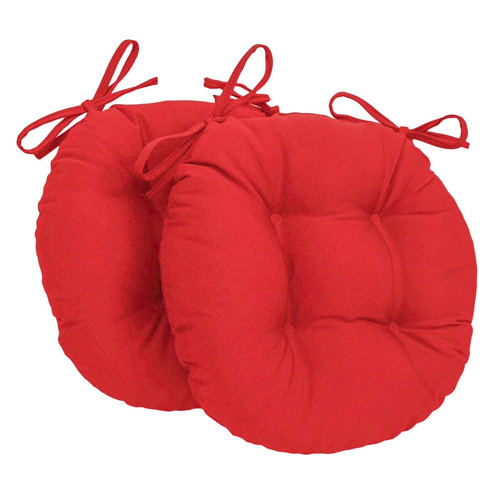 Rave Red Bistro Chair Pad 16 Round Cushion With Ties Indoor Outdoor Chair Pads Bistro Chairs Outdoor Dining Chair Cushions