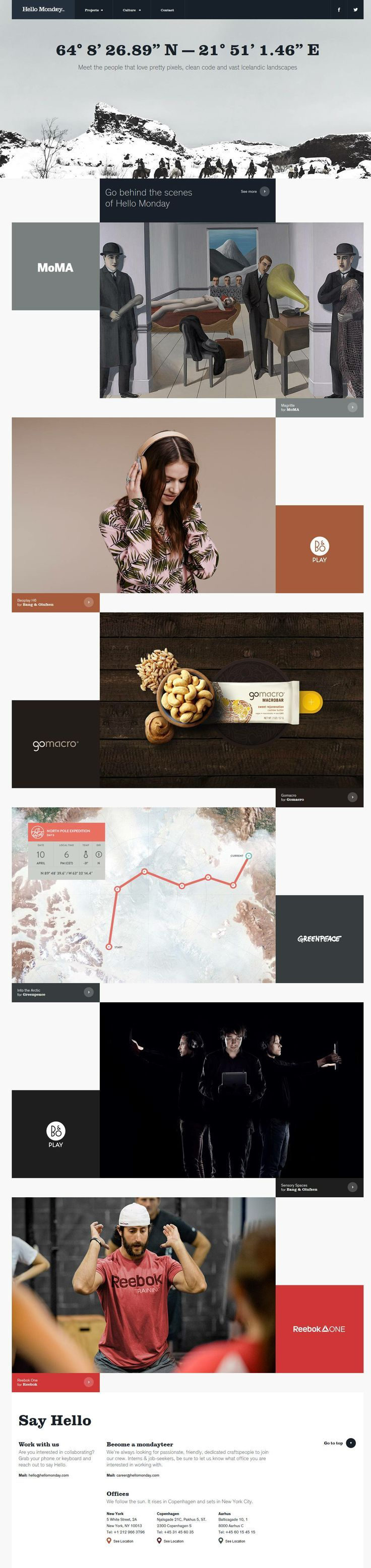 Inspiring Web Designs From Up North Web Layout Design Web Design Inspiration Fun Website Design