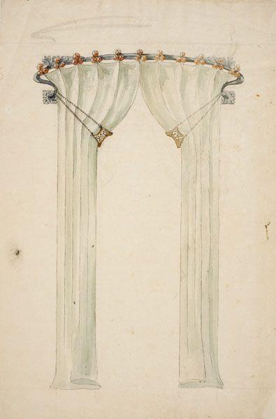 Gaspar Homar I Mesquida (1870 1953)   Wrought Iron Curtain Pelmet U0026 Curtains