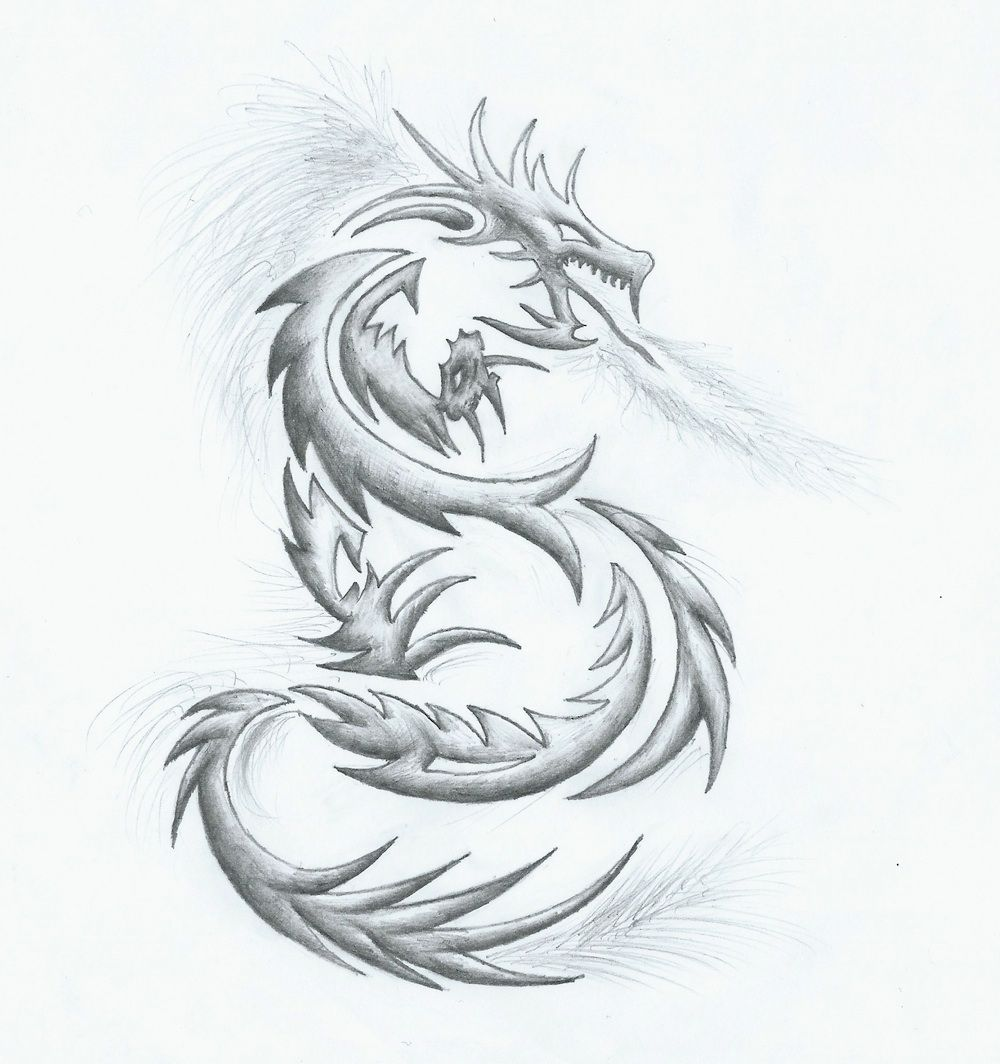 Drawing Dragon Tattoo In 2020 Dragon Tattoo Drawing Cool Dragon Drawings Tattoo Design Drawings