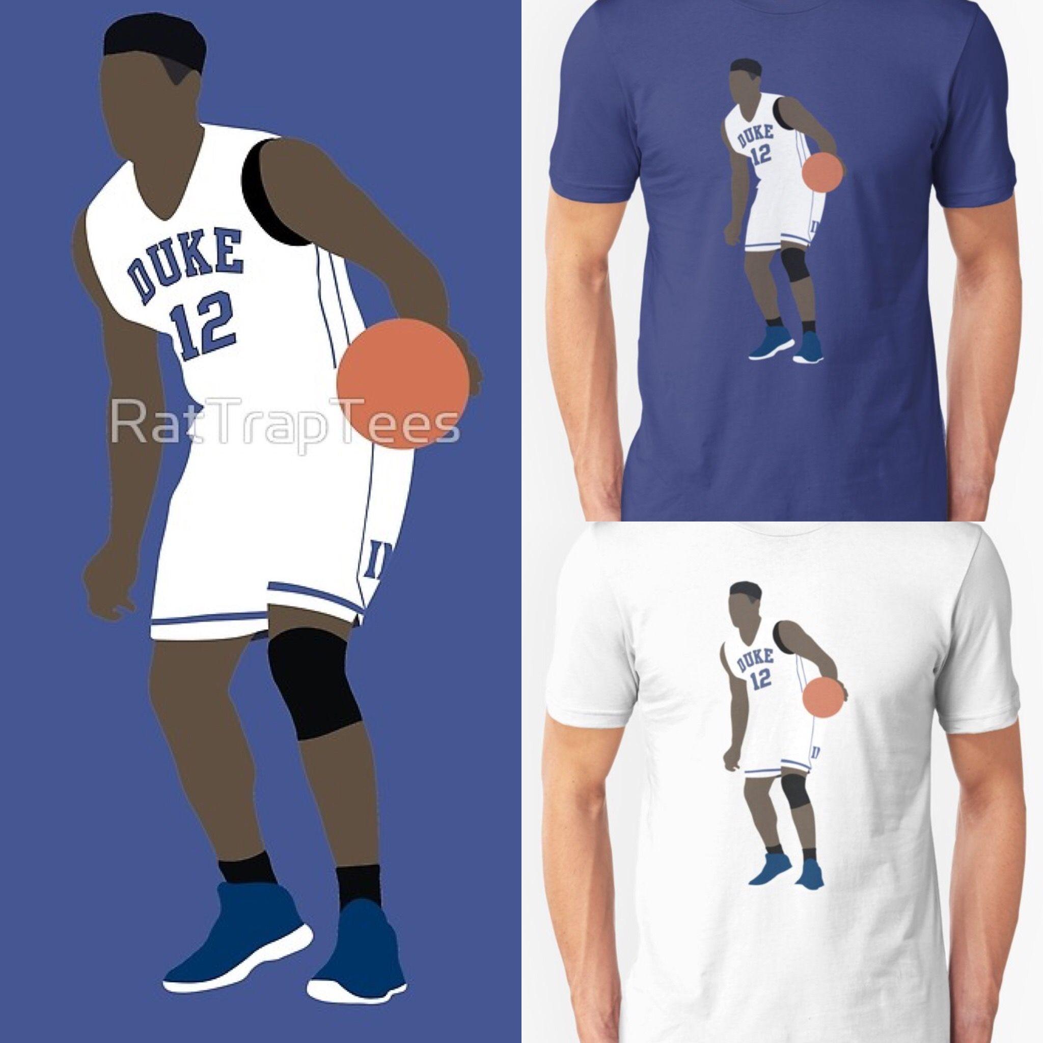 new arrival 63f6b 9ae6e Zion Williamson Duke Shirt   NBA T-Shirts   Duke shirts, Nba ...