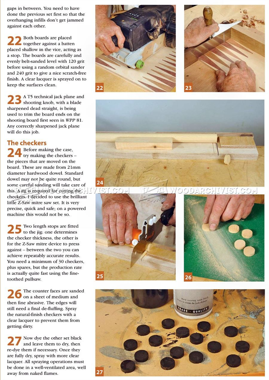 2717 backgammon board plans - woodworking plans | crafts