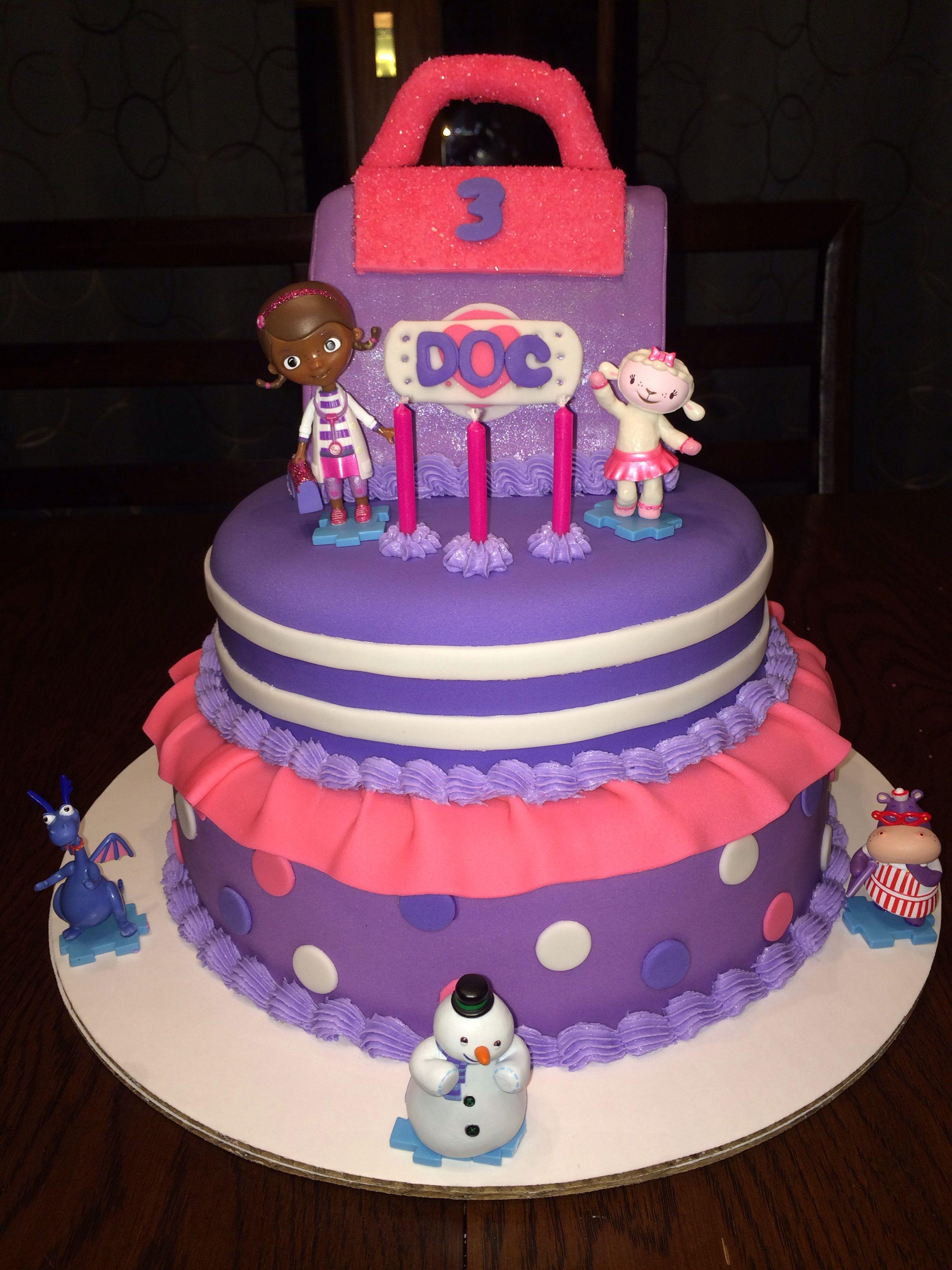 Amazing Doc Mcstuffins Cake Doc Mcstuffins Cake Doc Mcstuffins Birthday Funny Birthday Cards Online Elaedamsfinfo