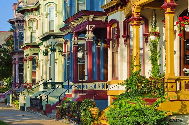 When walking to and from Downtown or just taking a leisurely walk around the neighborhood there is Beautiful architecture and colorful houses in Saratoga Springs, NY