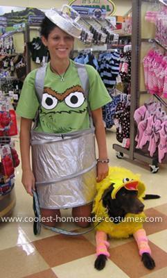 Coolest Big Bird Dog and Oscar the Grouch Handler Costume ...