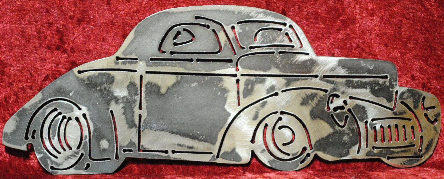 1941 Willy\'s Hot Rod, Vintage Style Metal Wall Art, Vintage Style ...