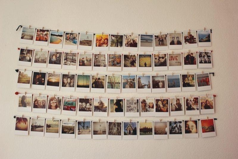 Fotos Aufhängen Kreativ : fotowand gestalten ohne bilderrahmen ideen und anregungen fotowand gestalten fotowand ideen ~ Watch28wear.com Haus und Dekorationen