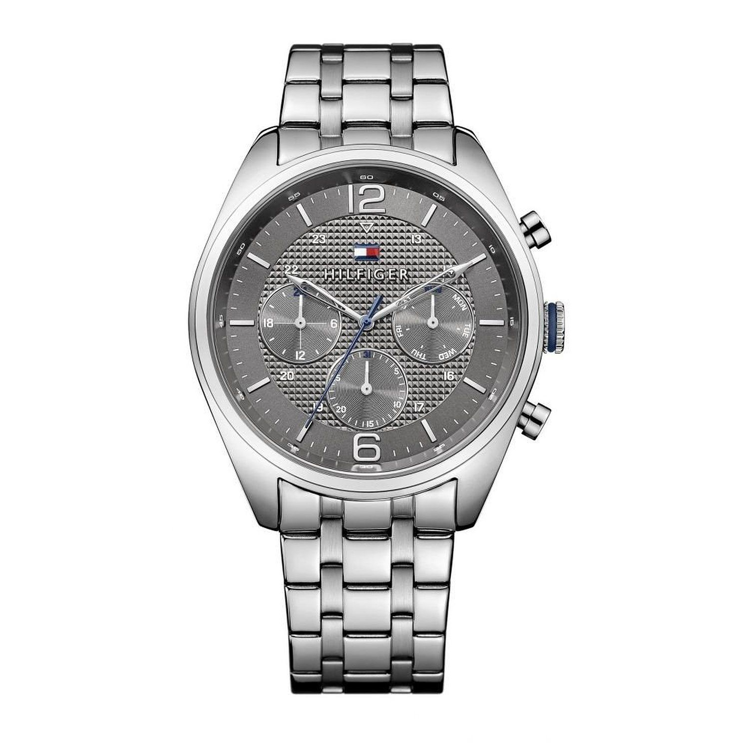 104db02a1150 Buy Tommy Hilfiger Multi-Function Gun Metal Grey Dial Men s Stainless Steel  Watch- TH1791185J Online at Low Prices in India - Amazon.in