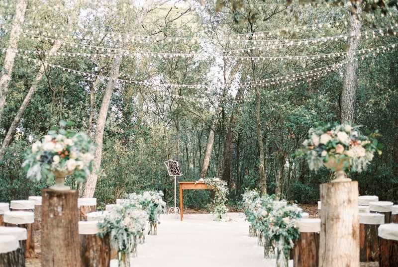 Wedding Ceremony Setup In The Woods Photo By En Route Photography Http