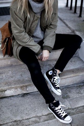 d4a838c4e00f jacket tumblr outfit tumblr jeans black jeans fall outfits back to school  sneakers high top sneakers black sneakers high top converse black converse  ...