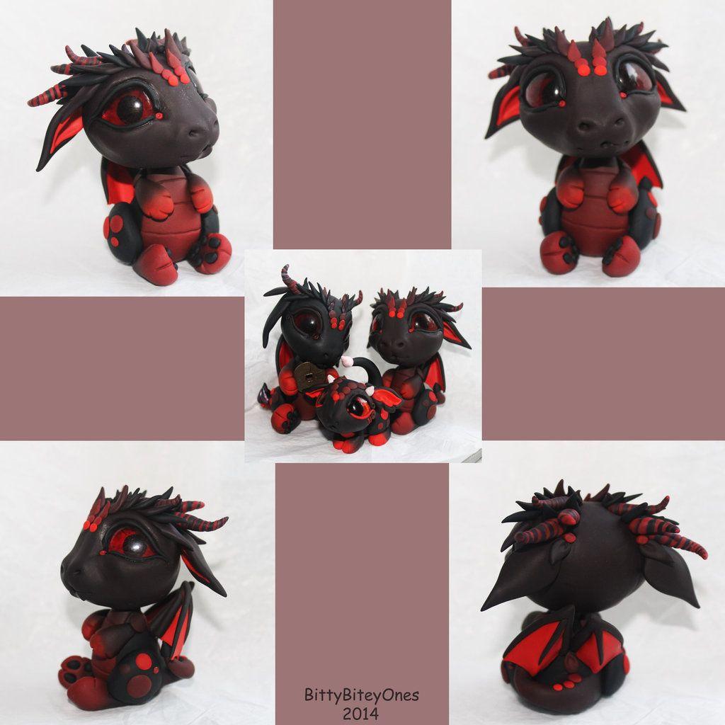 Black and Red Dragon 2 by BittyBiteyOnes.deviantart.com on @deviantART