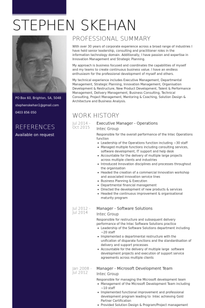 Director Of Operations Resume Resume Executive Resume Resume Template