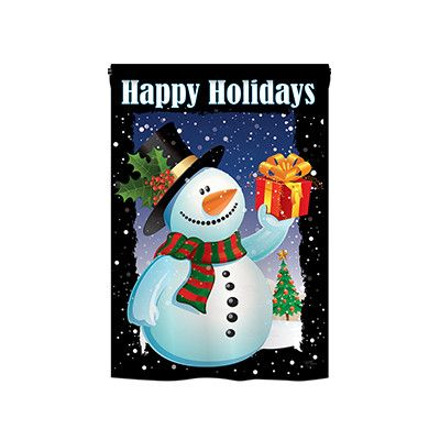 TwoGroupFlagCo Holiday Snowman 2-Sided Vertical Flag Size: