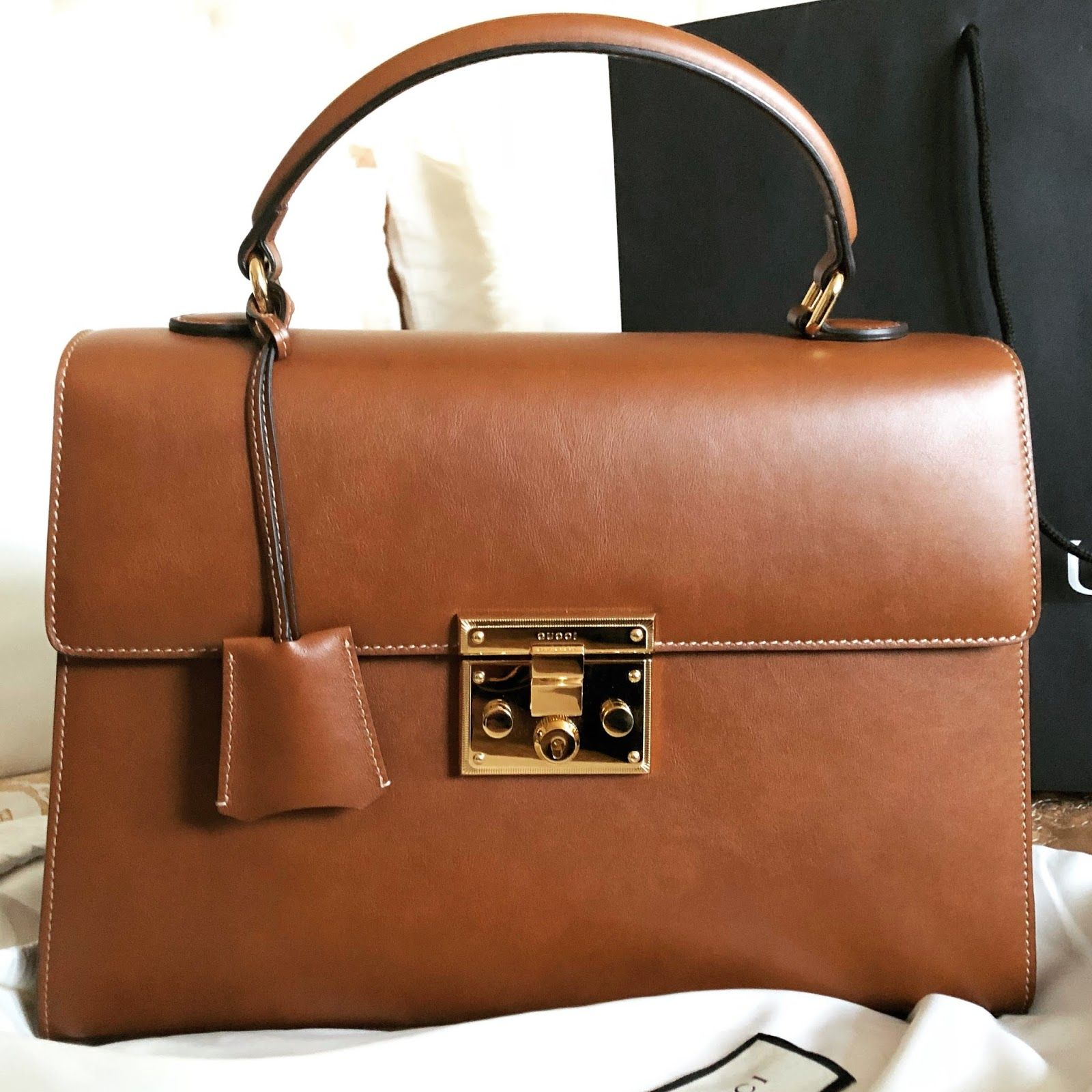 Bicester Village Shopping Bags Gucci Padlock Leather
