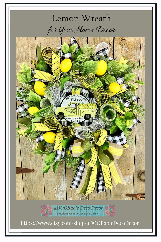 Lemon Wreath for Your Home Decor