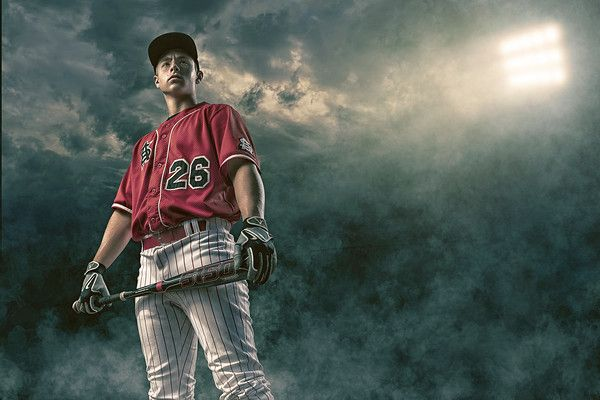High School Senior Enhancement Session Baseball, Sports, Batter, Clouds, Sky, Lights Joshua Hanna Photography Cross Lanes, Charleston, Huntington, WV, West Virginia