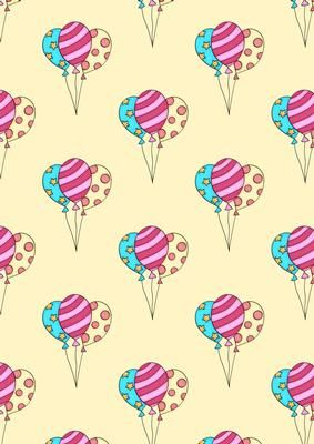 Balloons Background on Craftsuprint designed by Sandra Carlse - A great backing paper for birthdays