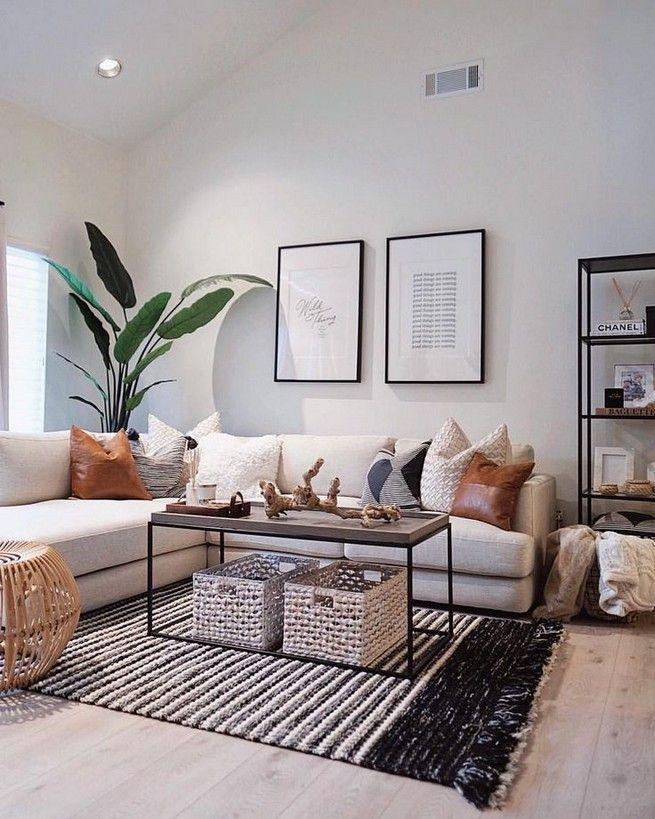 Living room decor plants interior design 5