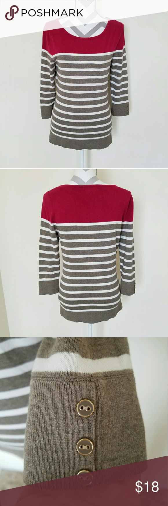 Banana Republic Striped Sweater | Scoop neck, Sleeve and Tans