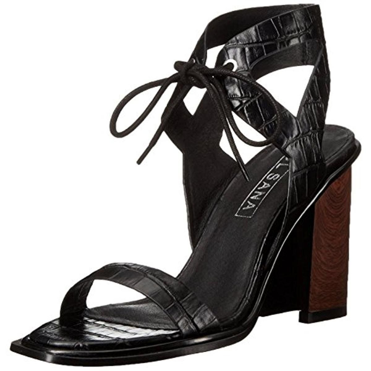Black dress sandals medium heel - Sol Sana Women S Dolly Heel Dress Pump Black Crocodile 41 Eu 11 M