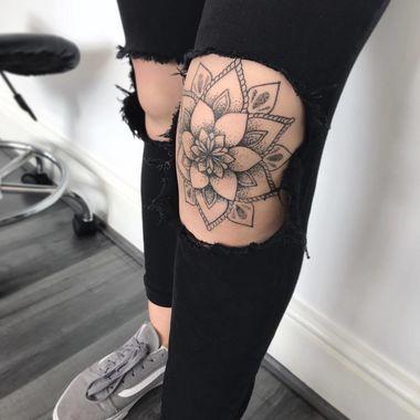 Photo of Mandala Knee Tattoo