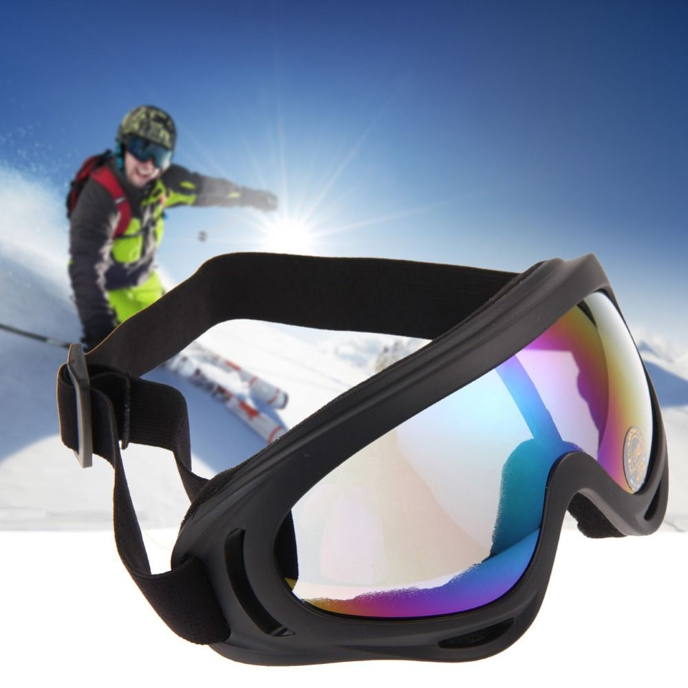 fe1d1b7586a Snowboard Motorcycle Dustproof Sunglasses Ski Goggles UV400 Anti-fog Outdoor  Sports Windproof Eyewear Glasses Proof