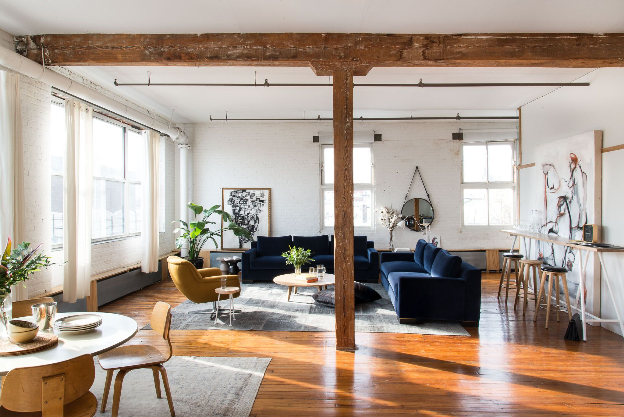 Rustic, Industrial Living Room Vibes | Interiors | Pinterest | Loft ...