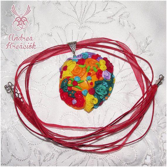 Collana di corallo colorato, gioielli di argilla polimerica, colori arcobaleno gioielli di oceano, unica collana facendo regali estate
