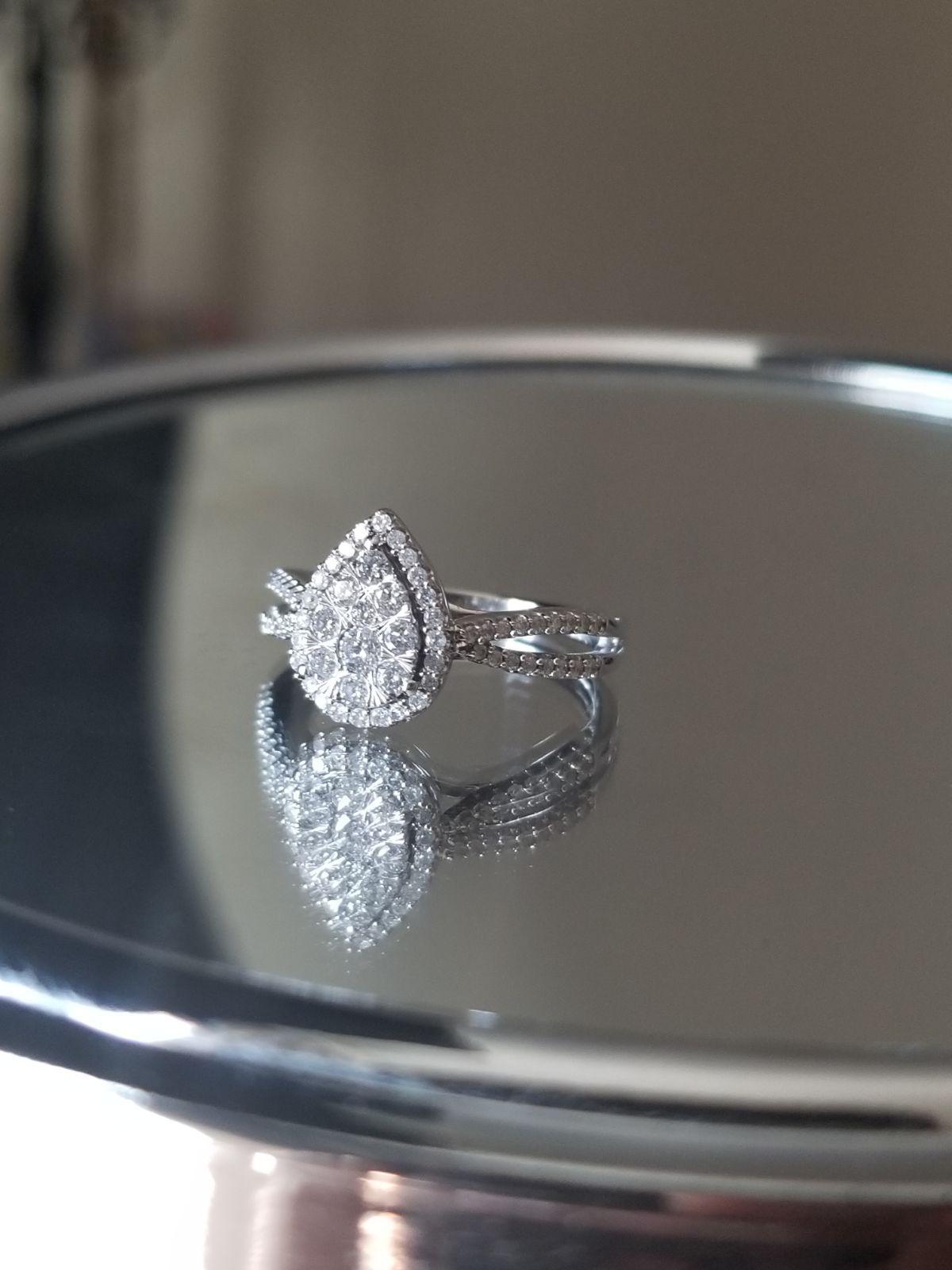Size 6 5 Worth 1 500 Womens 1 2 Ct T W Genuine White Diamond 10k White Gold Engagement Rin Kay Jewelers Rings White Gold Engagement Rings Fashion Rings