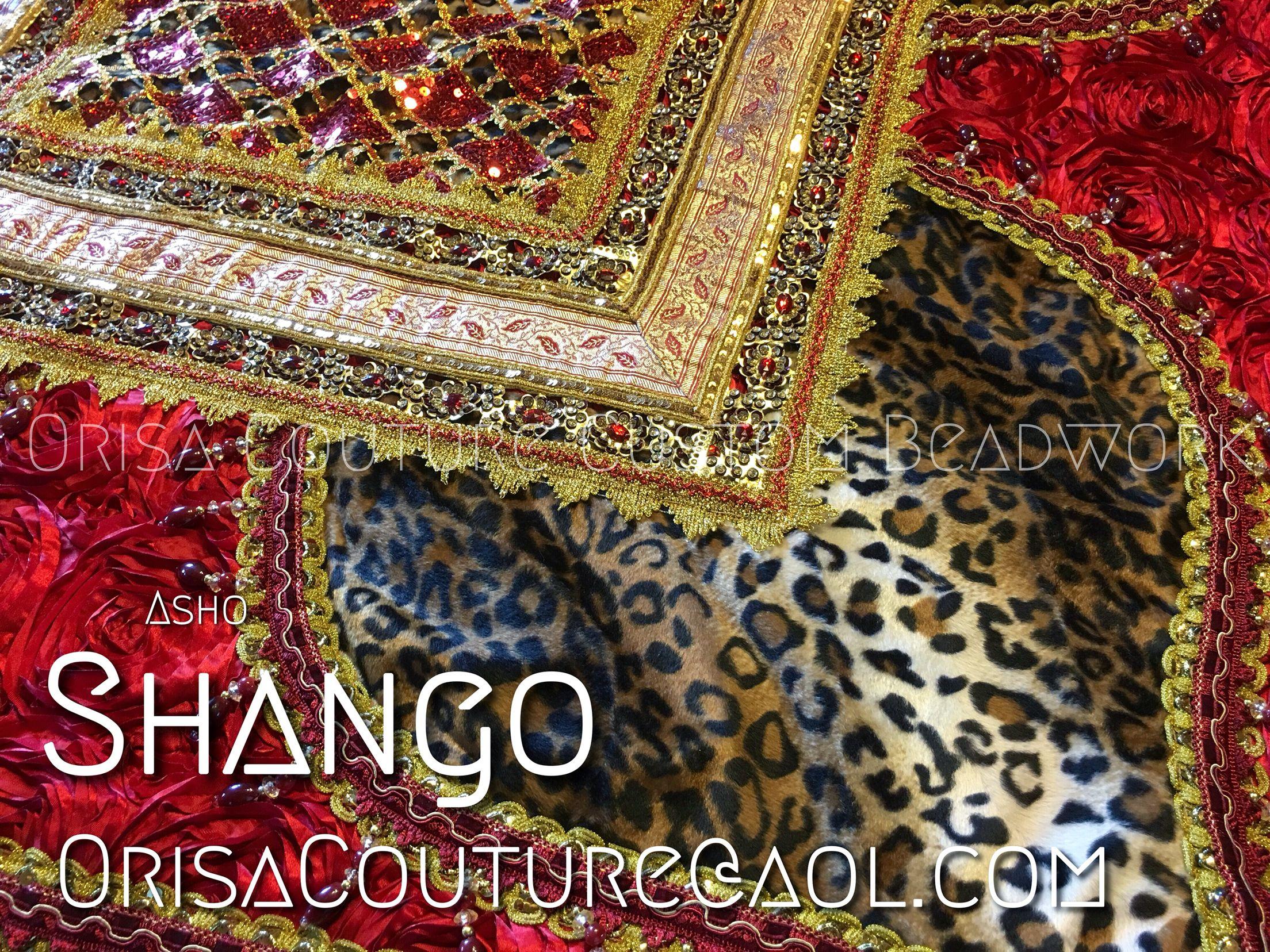Asho Shango For inquires, please send an e-mail to OrisaCouture@aol.com #asho #aso #shango #chango #jakuta #olufina #obakoso #orisa #orisha #lukumi #santeria #yoruba #orisacouture