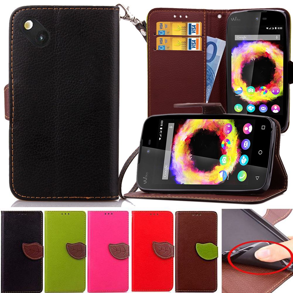 Click To Buy Leaf Buckle Pu Flip Leather Case For Wiko Sunset2 Sunset