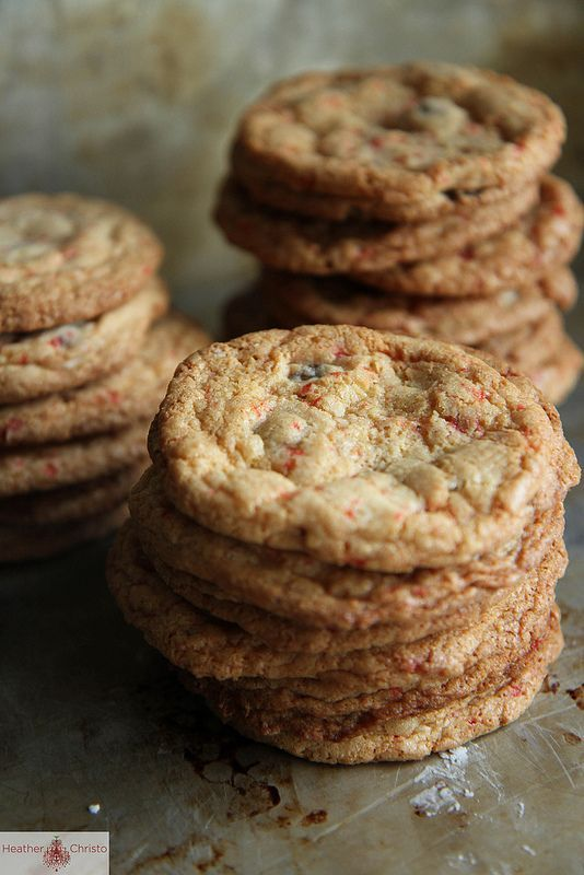 Gluten Free Chocolate Chip Candy Cane Cookies