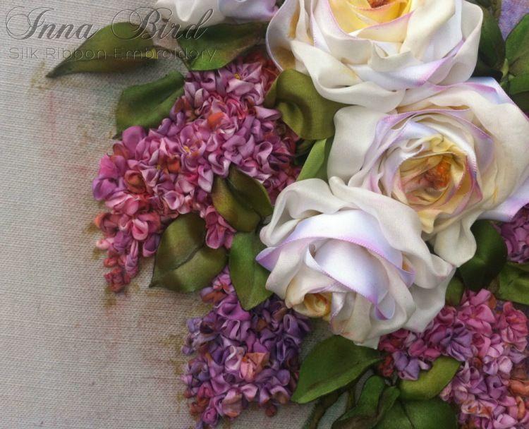 Вышивка лентами от Inna Bird | Вышивка лентами, Цветы и ...