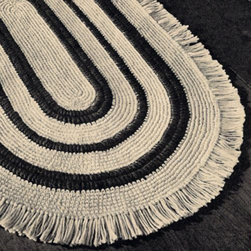 Oval Crochet Rug Pattern With