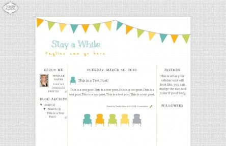 stay awhile 3 column free cute blog template layout | photography ...