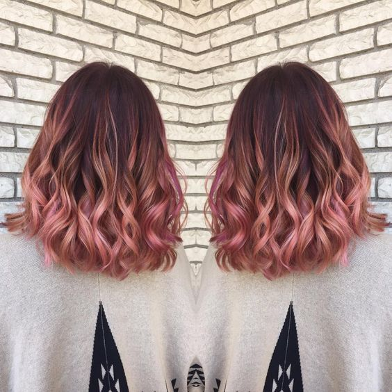 Rose Gold Hair Color Balayage & Color Specialist (@hairbymadisoncarlisle) • Instagram photos and videos #hairideas