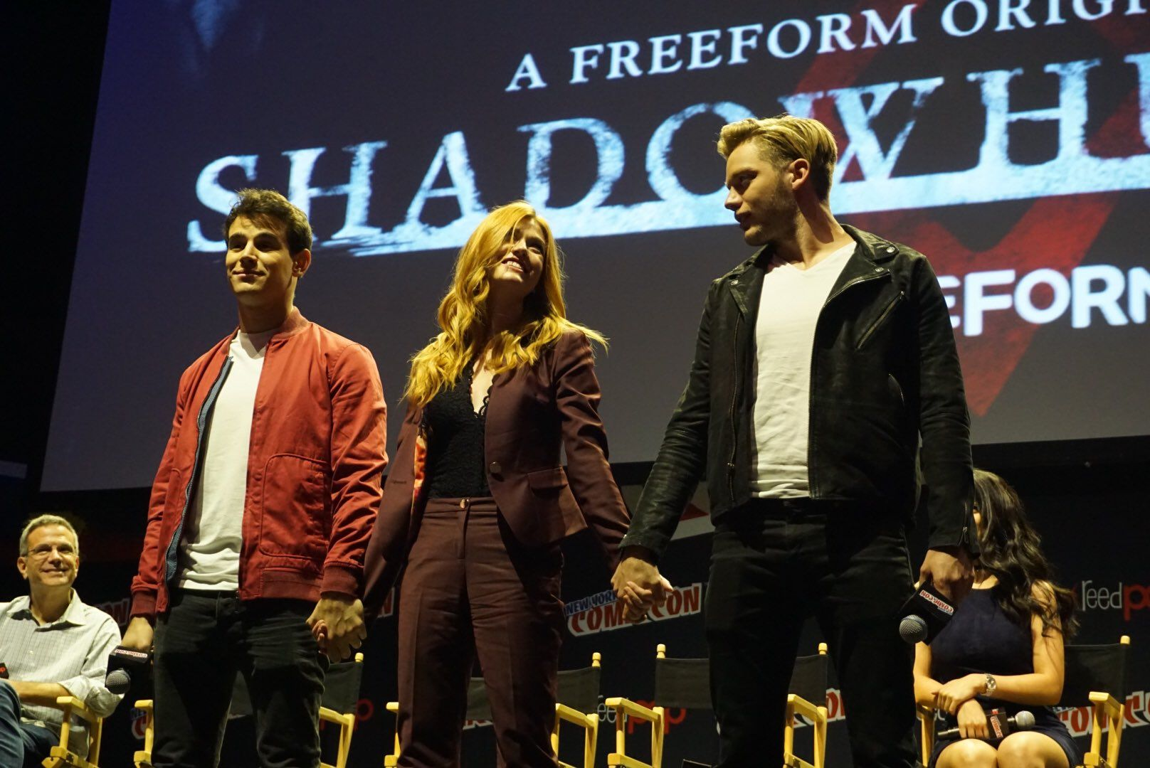 "Shadowhunters on Twitter: ""Oh... Love triangles. ❤️ #Shadowhunters #ShadowhuntersNYCC https://t.co/v5ORQhiIrC"""