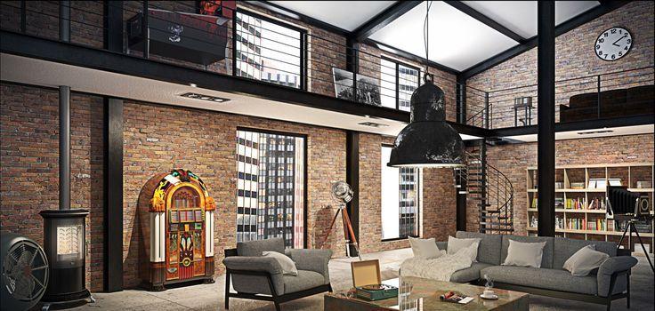 Industrial Loft Apartment And 258d41e975b299c6345b32fc4cb72c11 736×350  Pixels
