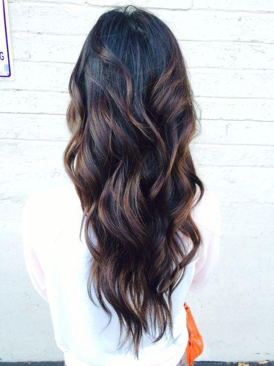 Curly black hair with brown highlights hair makeup and nails curly black hair with brown highlights pmusecretfo Choice Image