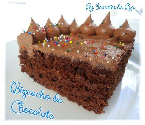 Los Inventos de Lisa: Bizcocho de Chocolate Rápido