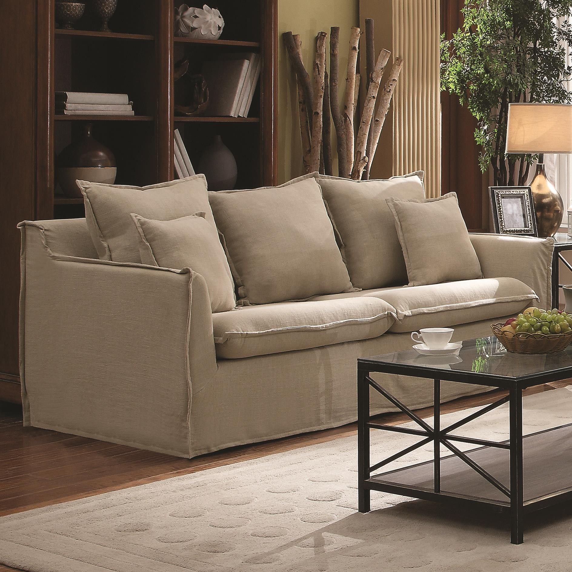 Nice Washable Slipcovered Sofas Awesome 45 About Remodel Contemporary Sofa Inspiration With