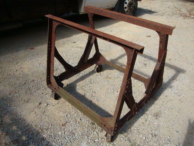 Industrial Machine Age Cast Iron Table LEGS Kitchen Island  Desk Base Steampunk