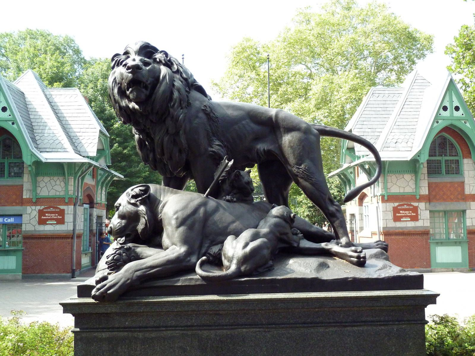 Foyer Luxury Zoo : Lion statue historic entrance philadelphia zoo gallery