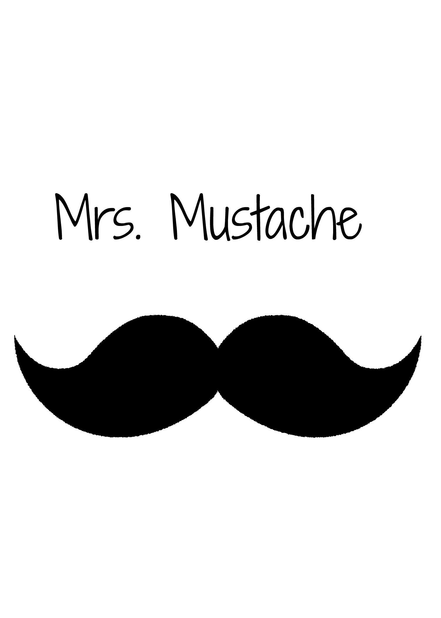 mrs. mustache