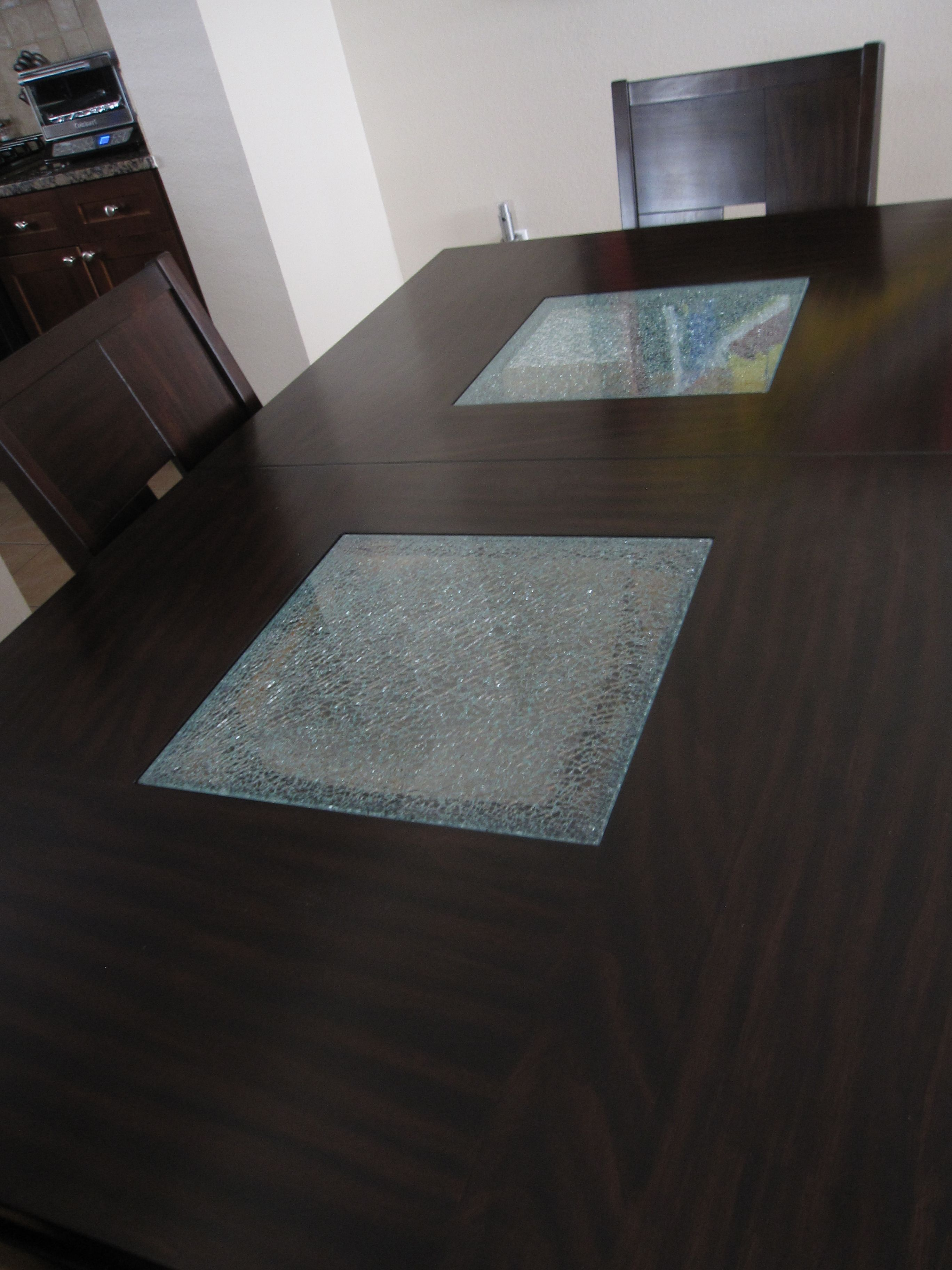 Dining Table Cracked Glass Accents Dining Table Dining Furniture [ 3648 x 2736 Pixel ]